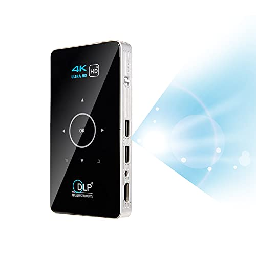Proyector Wifi Proyector DLP 4K Android 9.0 Bluetooth 30-150 pulgadas Película portátil al aire libre Cine en casa para teléfono inteligente Miracast Airplay