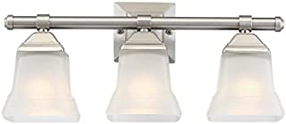 Portfolio 3-Light 10.4-in Brushed nickel Bell Vanity Light