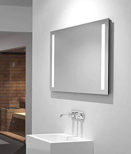 LED Badspiegel Talos Light 80 x 60 cm– Lichtfarbe 4200K -  Modernes Design und hochwertige Beschichtung