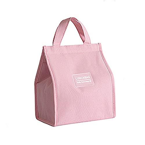 Bolsas de almuerzo grande para mujeres o hombres, bolsa de asas de almuerzo aislada reutilizable con papel de aluminio, bolsa de almuerzo simple para oficina de trabajo escolar Picnic Playa Entrenamie