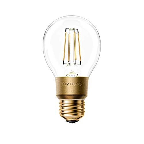 Smart Vintage Glühbirne Meross WLAN Glühbirne Dimmbare LED Lampe, Smart Edison Retro Lampe Warmweiß, kompatibel mit Alexa, Google Assistant und SmartThings, E27 A19, 60W Äquivalent