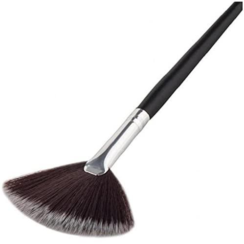 Onsinic Herramientas del Maquillaje 3pcs Ventilador De Cepillo Profesional De Mezcla Iluminador Rostro Polvo Suelto del Cosmético del Cepillo De Belleza