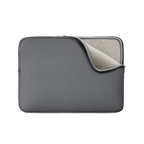 RAINYEAR 14 Inch Laptop Sleeve Protective Case Soft Lining Padded Zipper Cover Carrying Bag Compatible with 14' Notebook Computer Tablet Ultrabook Chromebook(Grey,Upgraded Version)