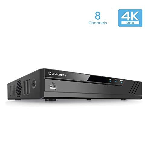 Amcrest 4K UltraHD Grabador de Sistema de Cámara de Seguridad de 8 canales, Grabadora de Video Digital…