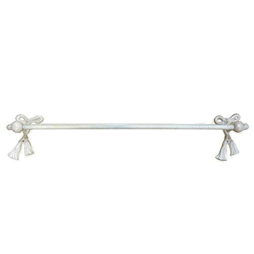 Better & Best 0226252 Toallero de baño de barra, con lazos y borlones, color blanco