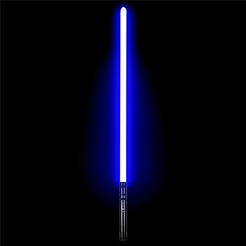 Dueling Lightsaber Metal Hilt RGB 12 Colors Changeable Force FX Lightsaber, Black Series Light Sabers for Adults Real Heavy Dueling with 6 Sound Fonts(Black)