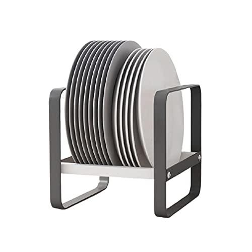 Nirant Organizador de platos de cocina – Estante para platos/escurridor de platos/soporte para tabla de cortar – Bandeja antideslizante – Solución ideal de almacenamiento de cocina (18 x 15 x 15 cm)