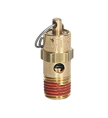 """Midwest Control SP25-175 ASME Soft Seat Safety Valve, 175 psi, 1/4"""" NPT, All Brass with Stainless Steel Spring, 250 Degree F Max Temperature by Midwest Control"""