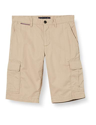 Tommy Hilfiger Herren John Cargo Light Twill Short, Batique Khaki, NI36