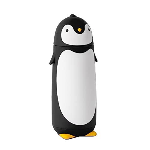Penguin Stainless Steel Vacuum Thermos Travel Mug Tea Water Bottle Coffee Flask (Black)