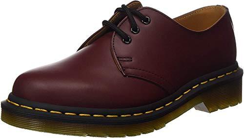Dr. Martens 1461, Zapatos Cordones Hombre, Rojo Cherry
