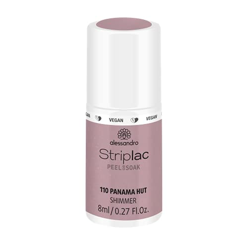 alessandro Striplac Peel or Soak Panama Hut – LED-Nagellack in dunklem Nude – Für perfekte Nägel in 15 Minuten – 1 x 8ml