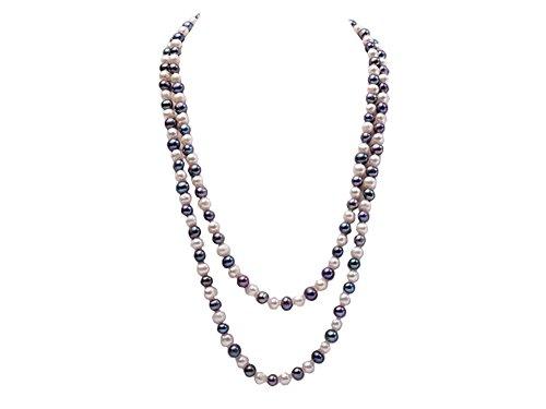 JYX 6-7mm collier de perles d'eau douce rondes blanches...