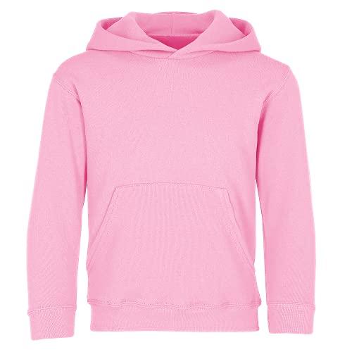 Sudadera con capucha para niños (unisex), de la marca Fruit of the Loom Rosa rosa claro 7 años