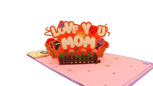 Recordable Greeting Card, I Love Mom Pop Up Card Mothers Day Greeting Card, Mom Birthday Card, Anniversary Card, Birthday Card, Love Card, Musical Birthday Card, Thank You Card, All Occasions