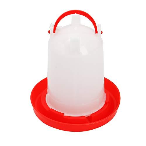 Finderomend Poultry Waterer,1.5L Chick Drinker Chick Waterer Plastic Poultry Fount Chicken Water Container Jar for for Chicks, Quail, Pigeon, Bird, Parrot