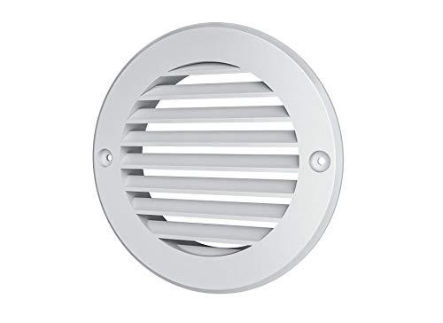Vent Cover - Round Soffit Vent - Air Vent Louver - Grille Cover - HVAC Ventilation (4'' Inch, Gray)