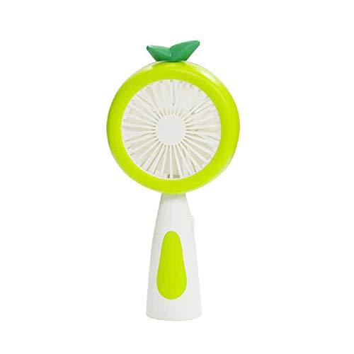 wangtao Mini Ventilador Recargable USB Portátil De Fruta De Piña De Dibujos Animados con Luz Nocturna LED Refrigerador De Aire Portátil De Escritorio De 2 Velocidades Verde