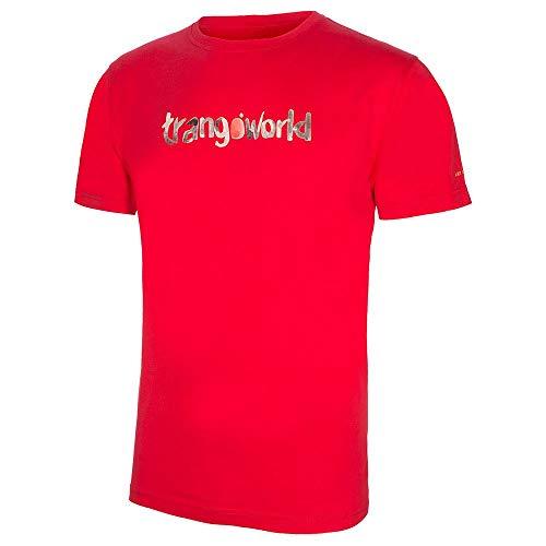Trango Camiseta Watercolour Tricot Homme, Rouge, M