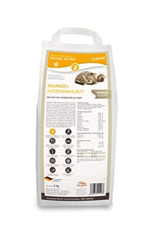 SALiNGO Premium Katzenfutter trocken Urinary | Geflügel mit Reis | zuckerfrei | 2kg