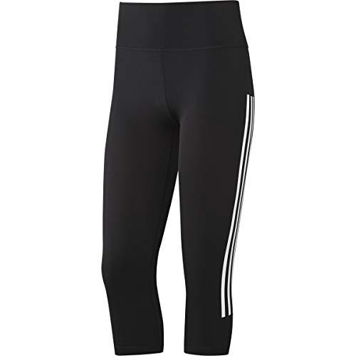 adidas Believe This 3 Stripe 3/4 Tight Pantalones Pirata, Negro/Blanco, XXL Tall para Mujer