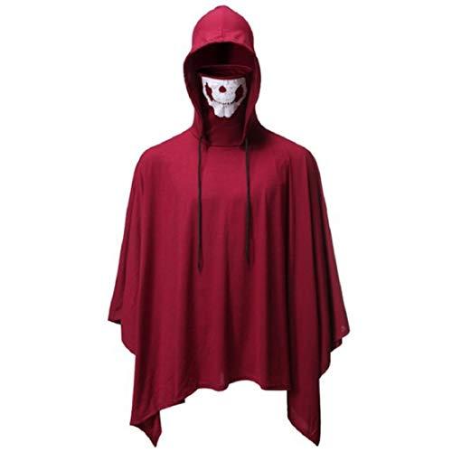 Heren Halloween-party cosplay capuchon met gezichtsmasker grappig Halloween festival party kleding entertainment shirt Ghoul Face Ghost Costumes met capuchon sweatshirt