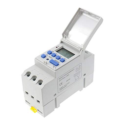 HomeDecTime 1X Temporizador Digital Interruptor 24V Manual Eléctrico Programable Punto De Alimentación...