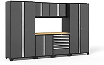NewAge Products Pro Series Bamboo Storage Set (7 Piece), Gray, 52052