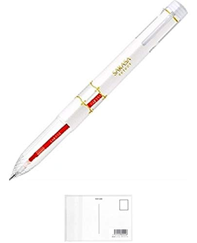 ゼブラ サラサセレクト ジェルボールペン 5色ホルダー 白 + 画材屋ドットコム ポストカードA
