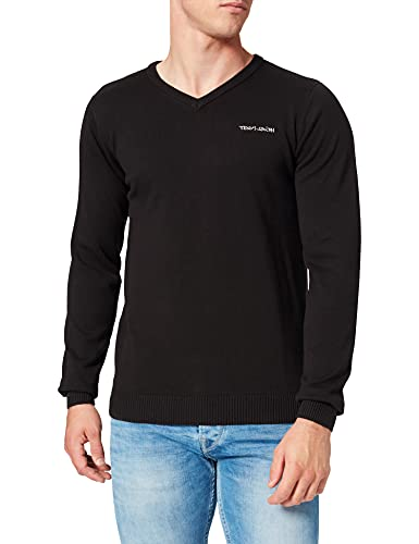 Teddy Smith PULSER 2 Pullover Sweater, Noir, X-Large Mens