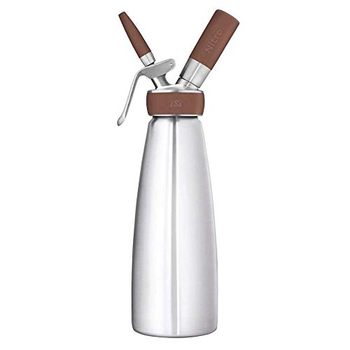 iSi 1790 Whipper Kaffeebereiter Kalt gebrühter Kaffee mit Stickstoff veredelt | Cold Brew Maker | Für Nitro Coffee, Tee und Cocktails, Edelstahl, 1 Liter, silber