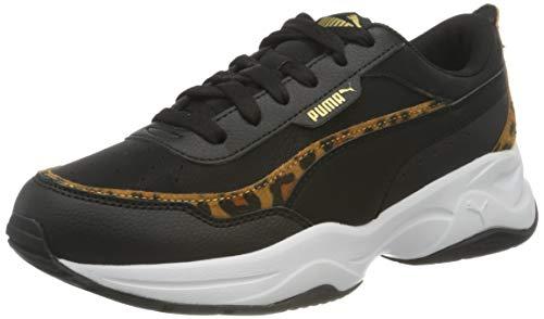 PUMA Cilia Mode Leo, Sneaker Donna, Nero Black Black Team Gold White, 36 EU