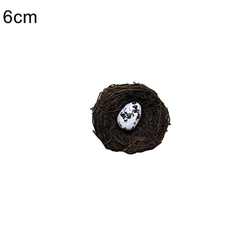 Bangle009 Deko-Foto-Requisiten, kleines Vogeleier, Rattan, Nest, Osterdekoration, Heimwerkerei, Dekoration, einfarbig, 6cm
