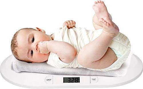 Grundig Babyweegschaal, digitale kinderweegschaal, tot 20 kg, digitale weegschaal voor pasgeborenen, digitale led-weergave, gewichtscontrole vanaf de geboorte, lcd-display, tarrafunctie, automatische uitschakeling