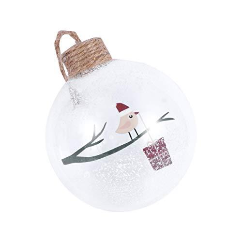 Amosfun weihnachtsglaskugel Vogel Muster weihnachtsbaumkugel Ornament Weihnachtsbaum hängende Dekoration weihnachtsbaumschmuck 8cm
