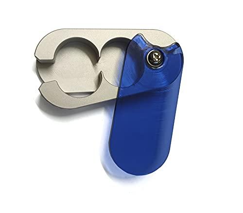 EWANTO Tablettenteiler Tablettenspalter Pillenschneider aus Aluminium mit zwei Vorratsfächern