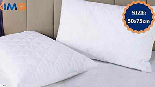 MAS International Ltd - Protector de colchón acolchado de microfibra, 30 cm de profundidad, suave al tacto para mayor comodidad, no ruidoso, calidad de hotel, hipoalergénico y transpirable Pillowcase