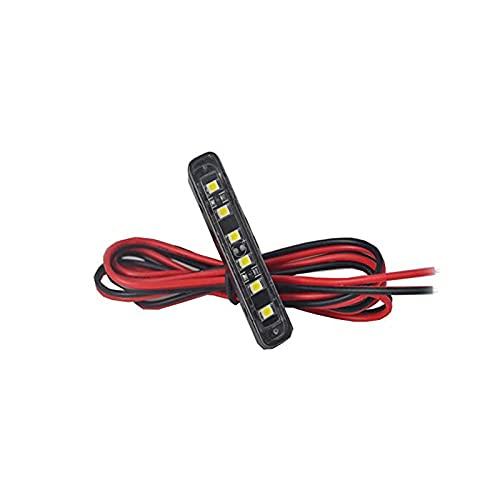 JinXiu Barre lumineuse, 6 LED pour plaque d'immatriculation, éclairage d'appoint, feu arrière ou de freinage pour véhicule, moto, vélo