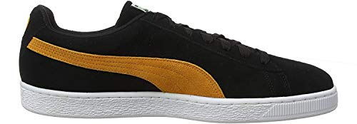 Puma Unisex-Erwachsene Suede Classic Sneaker, Schwarz Black-Orange Pop, 39 EU