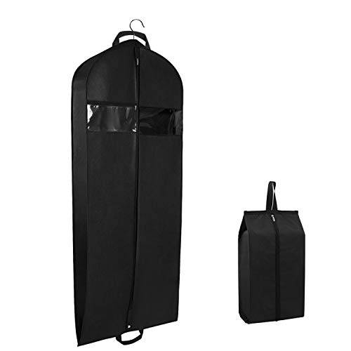 Zilink Garment Bags for Travel and Storage 60' Breathable Suit Cover Bag with Two Zipped Pockets for Suit, Coat, Dress