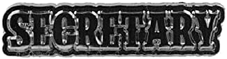 SECRETARY Zinc-plated Pewter Vest Club Pin 1-3/4