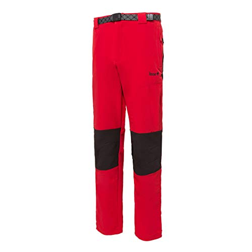 Izas Chamonix, Pantalón de Montaña para Hombre, Rojo/Negro, S