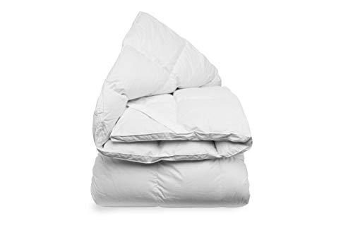 Daunen Step Topper Matratzenschoner aus weichem Daunen | Nuvola Ultrasoft 180x200 cm matrimoniale Bianco