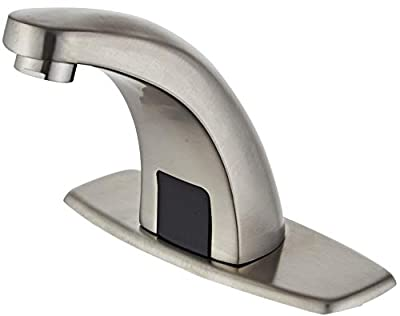 Luxice Automatic Touchless Infrared Sensor Faucet,Hot & Cold Mixer Cover Plate Included Water Tap, Brushed Nickel Finished