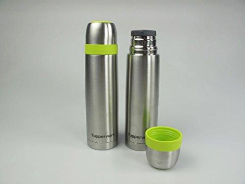 TUPPERWARE Thermoskanne 500 ml Isolierkanne Edelstahl grün Kaffe Tee Kanne