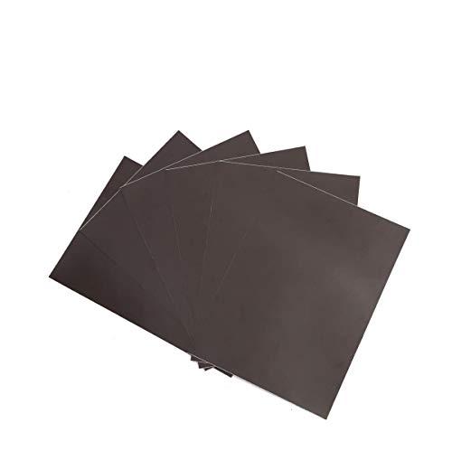 ZADAWERK® Magnetfolie - 1,2 mm - DIN A4-6 Stück - selbstklebend - schwarz