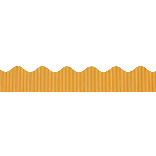 "Bordette Scalloped Decorative Border P37074, 2-1/4"" x 50', Sunset Gold, 1 Roll"