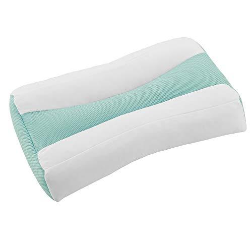 東京 西川 首にやさしい 枕 58X39cm 洗える 首・肩を支える傾斜 高さ調節可能 ムレにくい ソフトパイプ グリーン EH98382059G