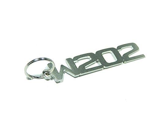 DisagrEE Schlüsselanhänger W202 - Hochwertiger Edelstahl gebürstet