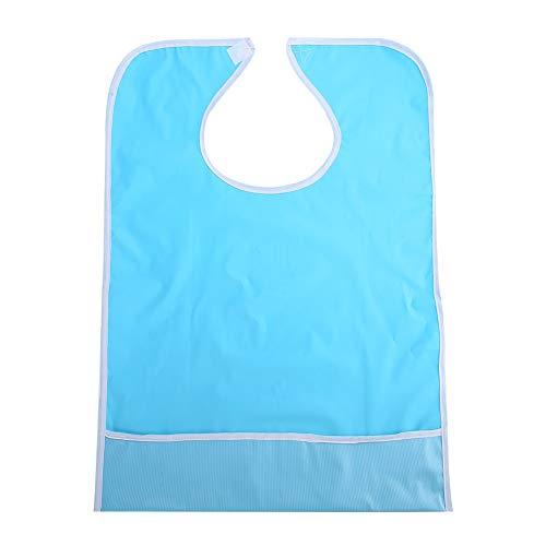 Bavettes pour adultes - Eatting Bib Imperméable Adulte Aîné Mealtime Bavoir Manger des vêtements Protecteur des vêtements Aides à la restauration (Couleur : Light Blue)
